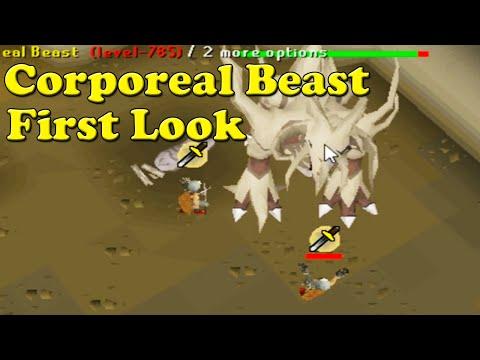 Oldschool Runescape - Corporeal [Corp] Beast - First Look