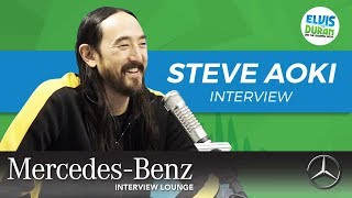 Steve Aoki on Owning His Dream House and Pizzaoki | Elvis Duran Show