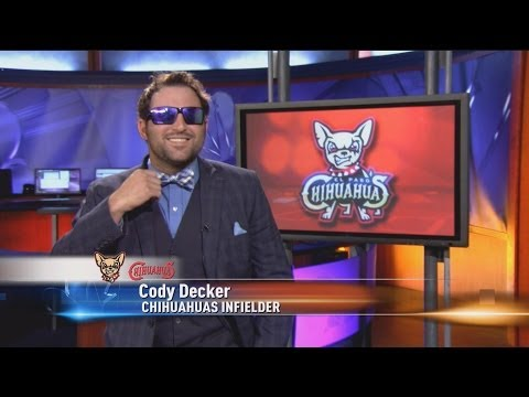 Cody Decker anchors sports on KTSM NewsChannel 9 El Paso Chihuahuas