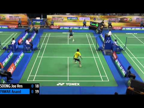 R16 - 2014 Indonesian Masters GPG Badminton Open - Anand Pawar vs Soong Joo Ven