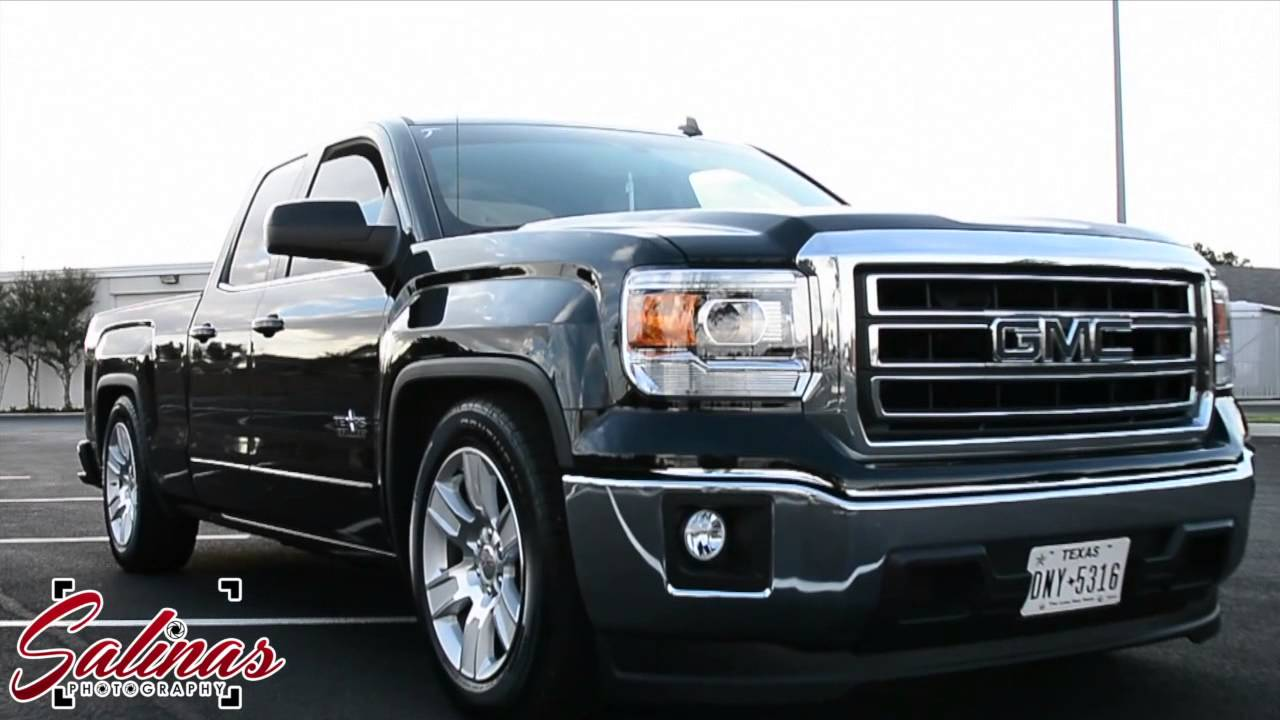 2014 GMC Sierra on a low drop and stocks! - YouTube