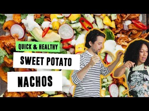 Sweet Potato Nachos | Quick & Healthy | SO VEGAN