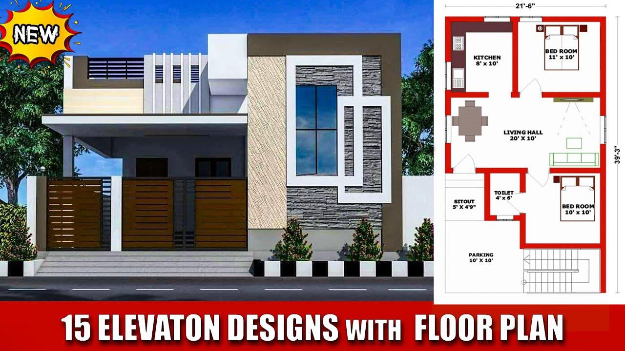 15 Beautiful Small House Elevation Designs With Vastu Floor Plan Ground Floor Elevation Youtube