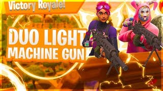 *NEW* LIGHT MACHINE GUN DUO! LMG FORTNITE! (Fortnite: Battle Royale - Nederlands PS4)