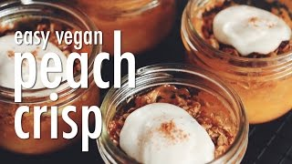 Easy Vegan Peach Crisp | Hot For Food