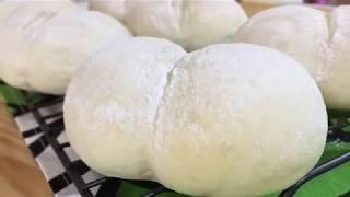 【パン成形】「ハイジの白パン」の成形方法を紹介しています。パン生地作りは、ホームベーカリーを使用しているので、とっても簡単。生地の分量は説明欄に記載しています。