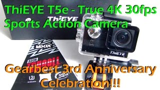 ThiEYE 4K 30 FPS Action Camera & Gearbest 3rd Anniversary Celebration