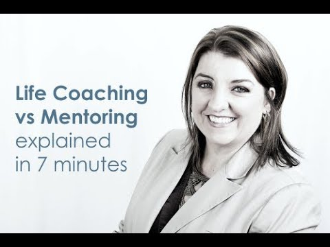 The difference between life coaching and mentoring, training, counselling etc.