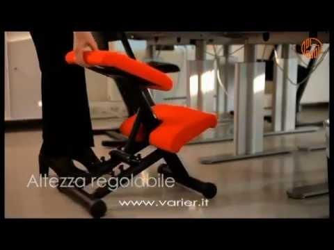 Sedia ergonomica regolabile multi balans variér youtube
