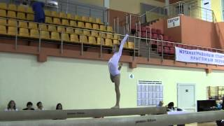 Спортивная гимнастика Бревно Есения Фролова .
