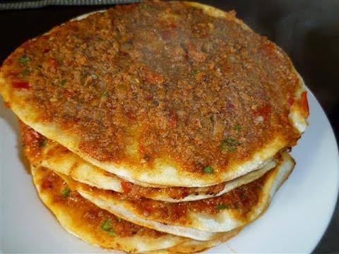 فطاير تركيه بدون فرن (البيتزا التركى) مطبخ ساسى