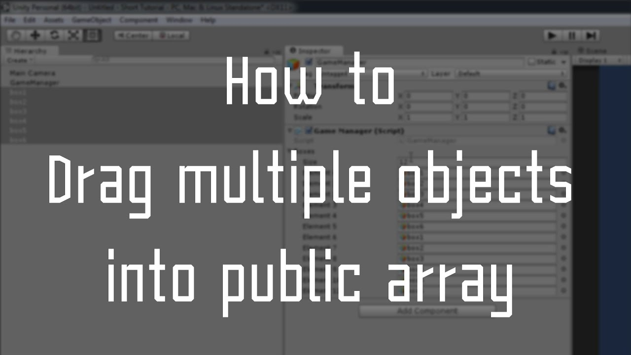 Unity How to : Drag multiple objects to array