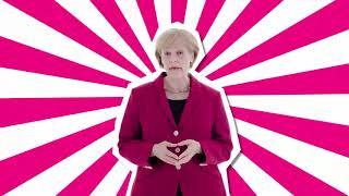 Antonia von Romatowski als Angie Merkel in: Die einzige Alternative für Deutschland!