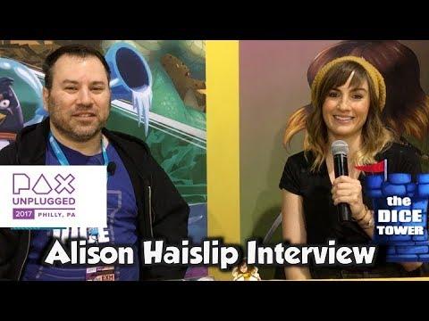 with Alison Haislip IELLO  PAX Unplugged 2017