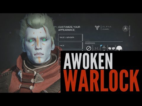 Destiny Alpha: Male Awoken Warlock Creation
