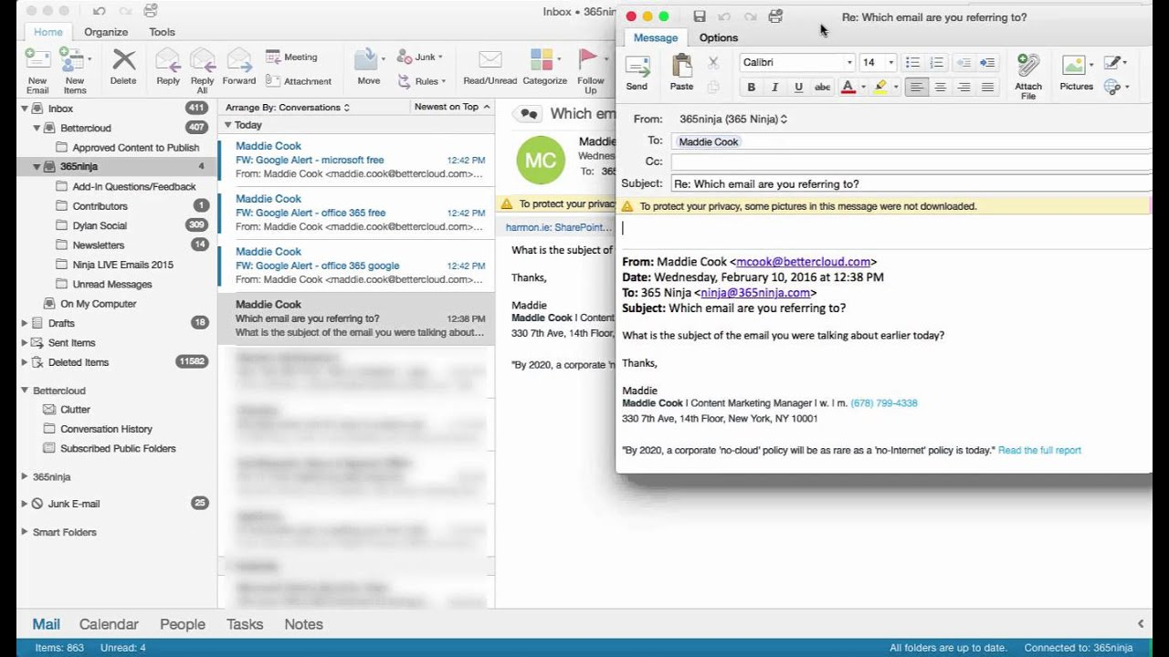how to download emails with outlook