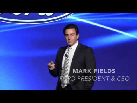 Ford CEO Mark Fields addresses 2016 Automotive News World Congress