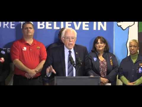 Bernie Sanders Press Conference In Cleveland 3-5-2016
