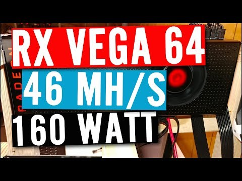 RX Vega 46mhs Hashrate @ 160W - ETH Mining - $3.50 Per Day