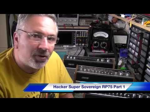 Hacker Super Sovereign RP75 transistor radio Part 1: 1st look and overview