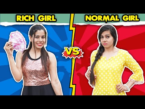 Rich Girl Vs Normal Girl | Sanjhalika Vlog