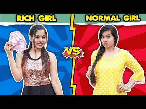 Rich Girl Vs Normal Girl   Sanjhalika Vlog