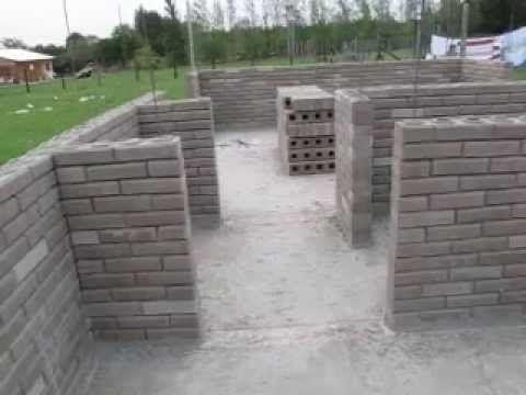 Mamposter a con ladrillos de suelo cemento youtube - Precios de ladrillos para construccion ...