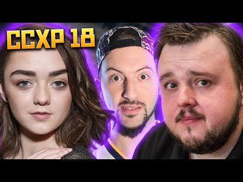 CONOCI A MAISIE WILLIAMS Y JOHN BRADLEY DE GAME OF THRONES!!! O algo asi... | CCXP 2018 DIA 1 Mp3