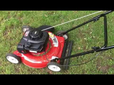 Yard Machines 125cc 20 Inch Push Mower Review Budget Push lawn Mower From Amazon