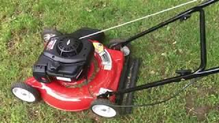 Yard Machines 125cc 20 Inch Push Mower Review Budget Push lawn Mower From Amazon