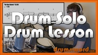 ★ No One Knows (QOTSA) ★ Drum Lesson (3rd SOLO) | How To Play Drum Solo (Dave Grohl)