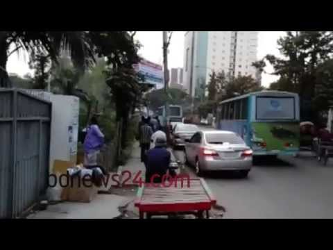 Parking illegally in Dhaka