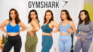 Can a medium girl shop at Gymshark?!?!? (MASSIVE activewear try-on haul)