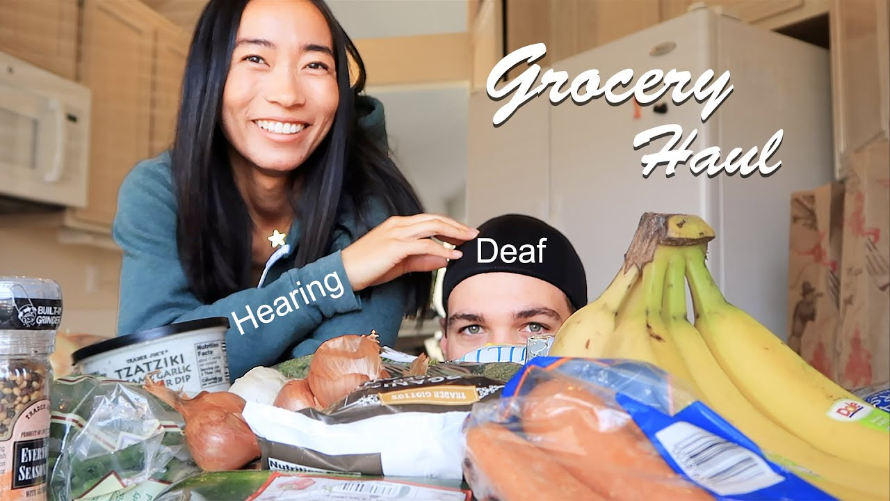 Deaf and Hearing Couple Grocery Haul