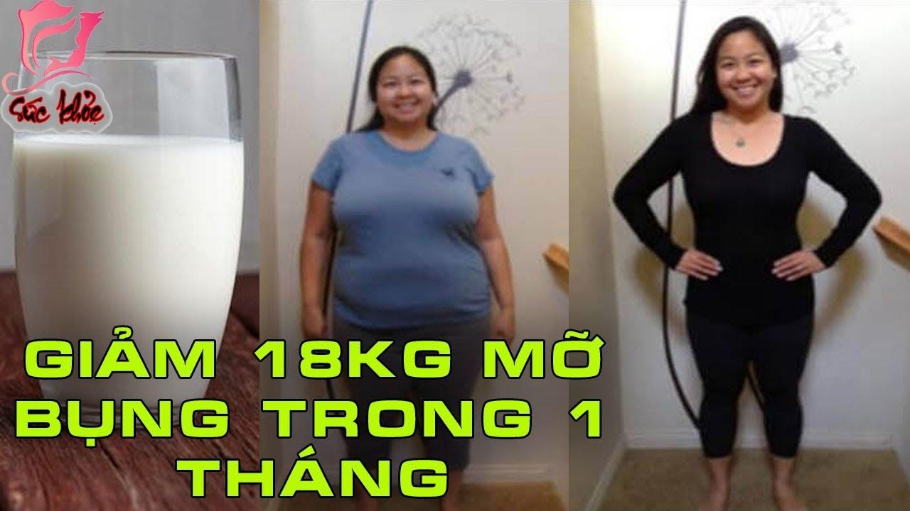 Cách giảm 18kg mỡ bụng 1 tháng với cách uống sữa trộn thứ này