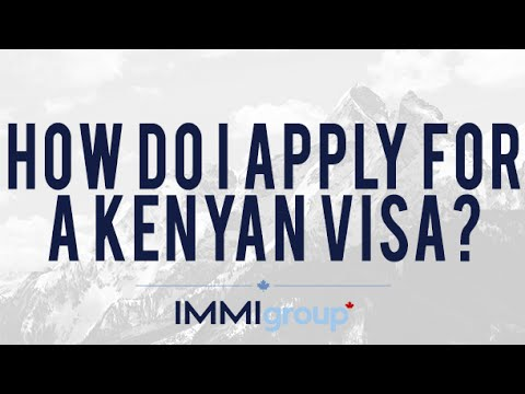 How do I apply for a Kenyan visa?