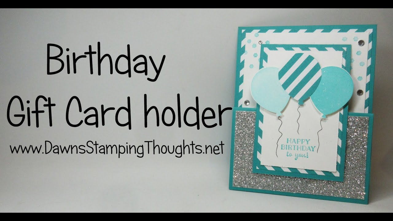 Birthday Gift Card Holder with Party Pants stamp set from Stampin – Birthday Card Gift