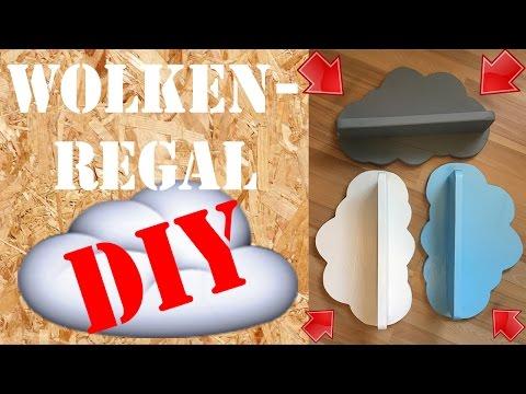 DIY Wandregal Wolke selber machen - Wolkenregal aus Paletten Baby Kinderzimmer Deko Cloud Shelves