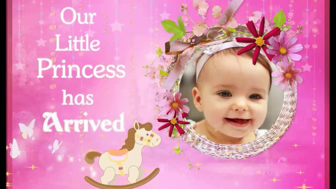 CRADLE / NAMING CEREMONY INVITATION FOR BABY GIRL - YouTube