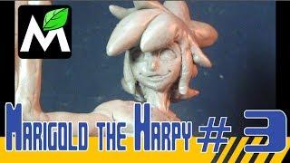 Sculpting Marigold the Harpy part 3: WING | Friki Sculpt in wax