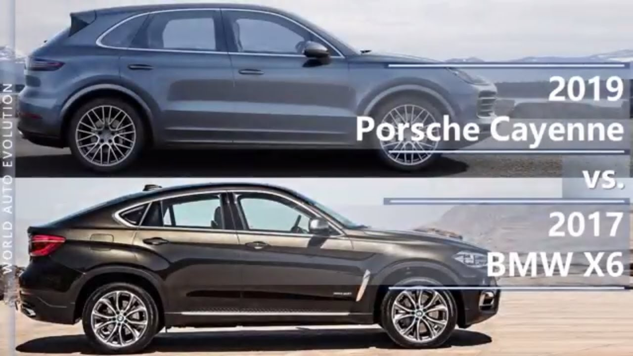 2019 Porsche Cayenne Vs 2017 Bmw X6 Technical Comparison