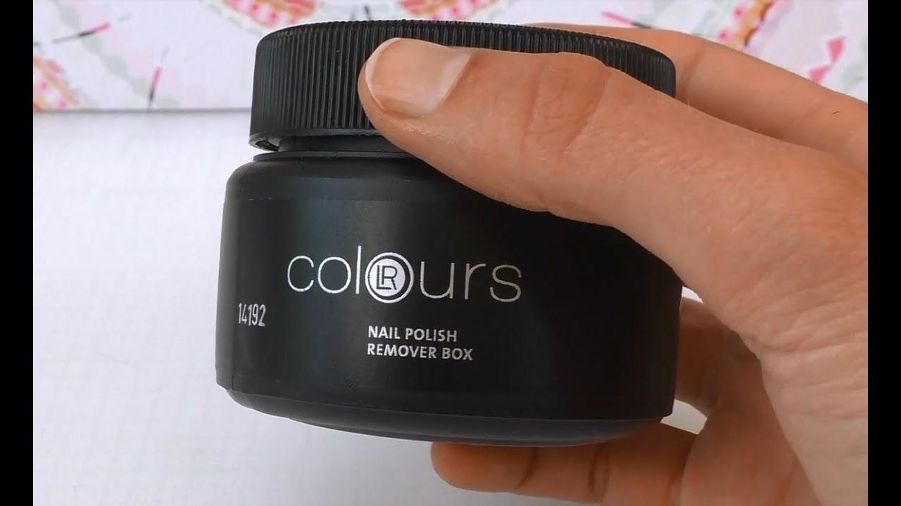 LR Colours Nail Polish remover box / Nagellackentferner von LR im ...