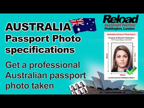 Get your Australian Passport Photo and Visa Photo for Austra