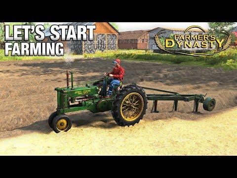 LET'S START FARMING! | Farmer's Dynasty | Ep 4