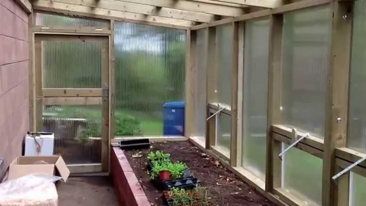 Diy Lean To Greenhouse Completed Youtube