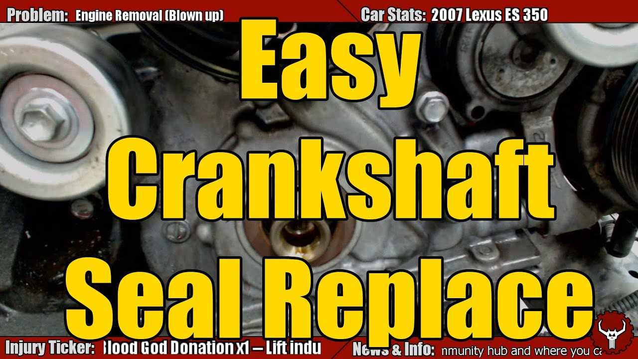 Crank Seal Replacement The Easy Way Youtube