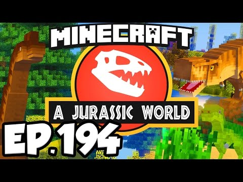Jurassic World: Minecraft Modded Survival Ep.194 - CAVE EXPLOSIONS, STARVING FLYERS (Dinosaurs Mods)