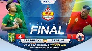 PERSEBAYA VS PERSIJA (FT : 4 - 1) - Highlights Bejo Jahe Merah Piala Gubernur Jatim 2020
