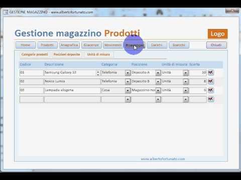 4 Access 2010 Magazzino Carico E Scarico Youtube