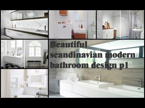 20+ Beautiful scandinavian modern bathroom design ideas p1